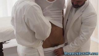 Gay mormon hunk creampied